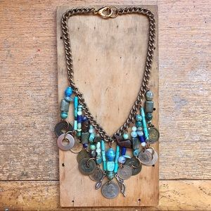 Jewelry - Handmade Vintage Coin Statement Necklace
